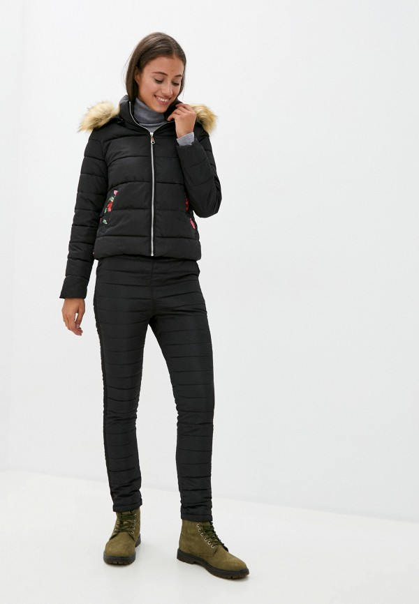 женская куртка fresh cotton, черная