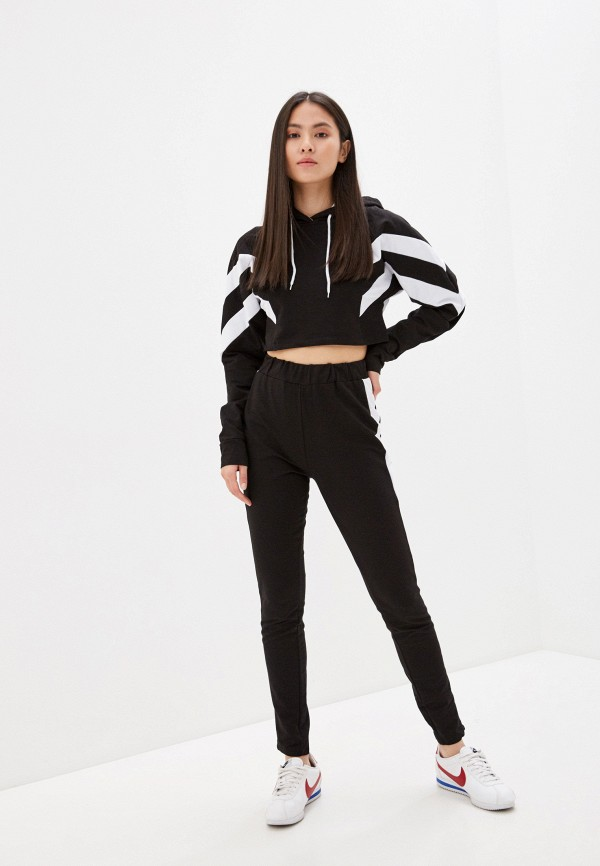 женский спортивный костюм fresh cotton, черный