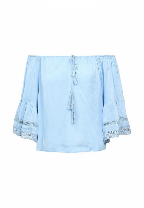 женская блузка fresh cotton, голубая