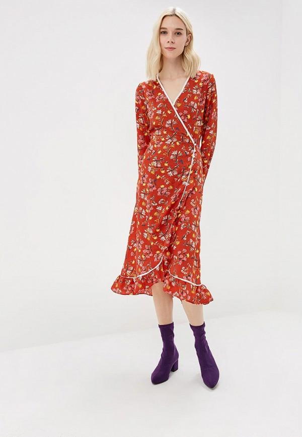 женское платье free people, коричневое