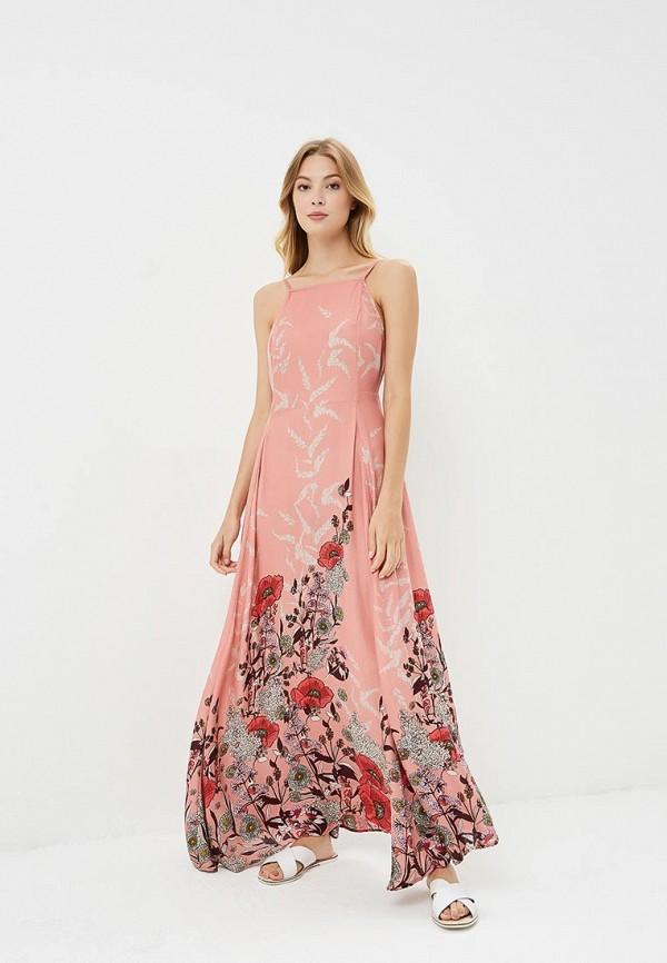женское вечерние платье free people, розовое