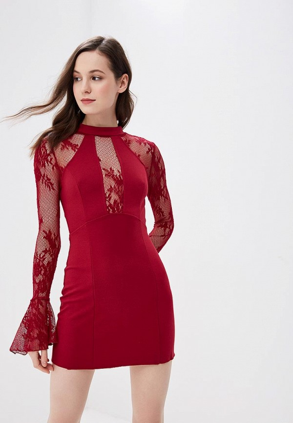 женское повседневные платье free people, бордовое