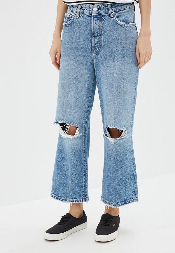 женские джинсы клеш free people, голубые
