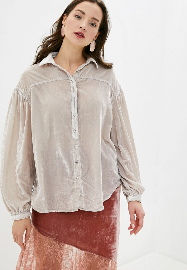 женская блузка free people, бежевая