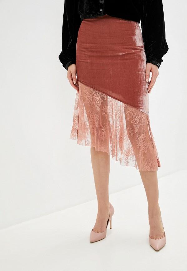 женская прямые юбка free people, розовая
