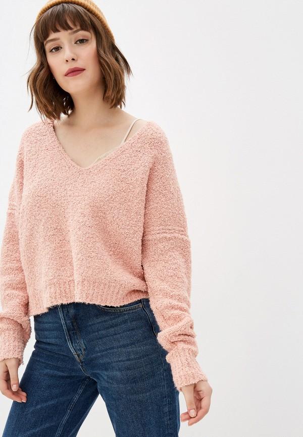 женский пуловер free people, розовый