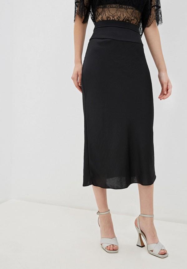 женская прямые юбка free people, черная