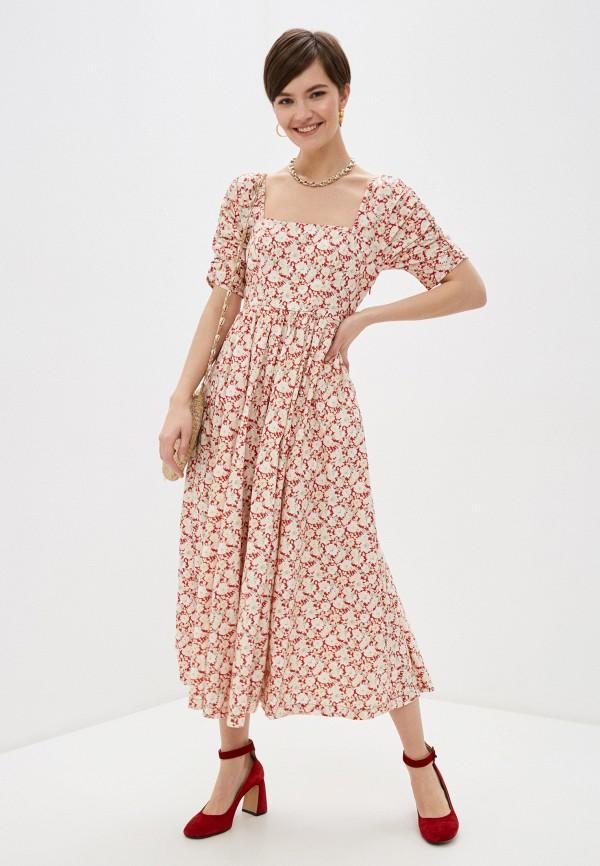 женское повседневные платье free people, разноцветное