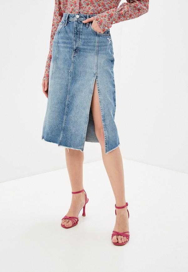 женская джинсовые юбка free people, голубая