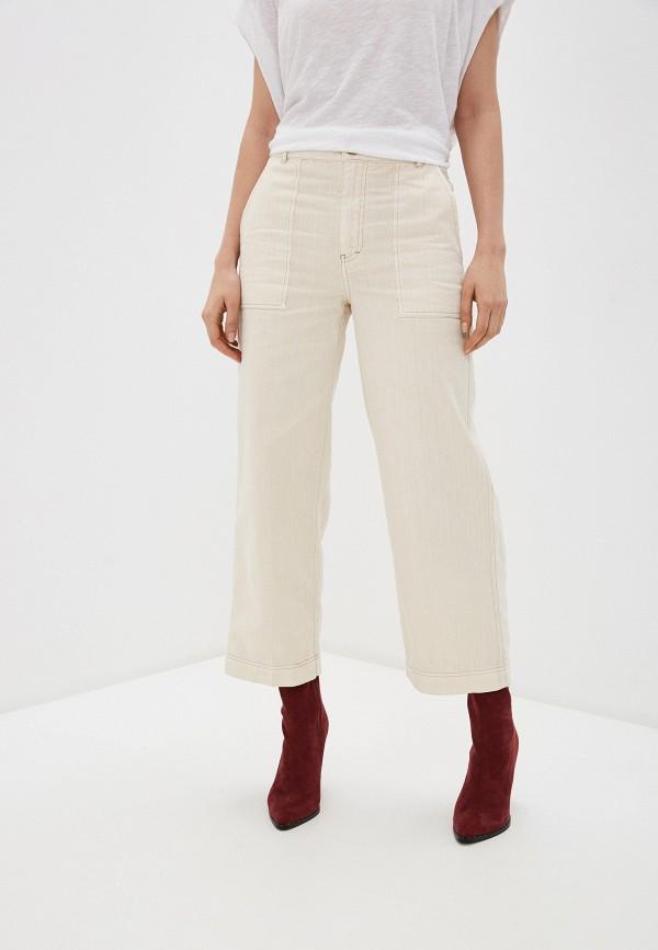 женские повседневные брюки free people, бежевые