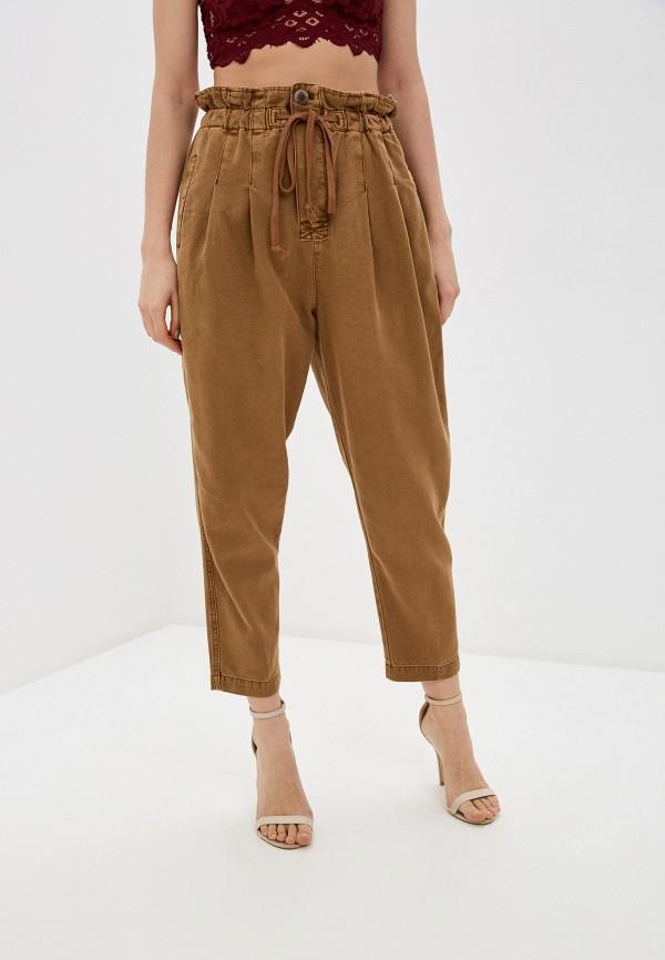женские повседневные брюки free people, коричневые