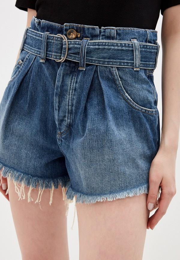 женские джинсовые шорты free people, синие