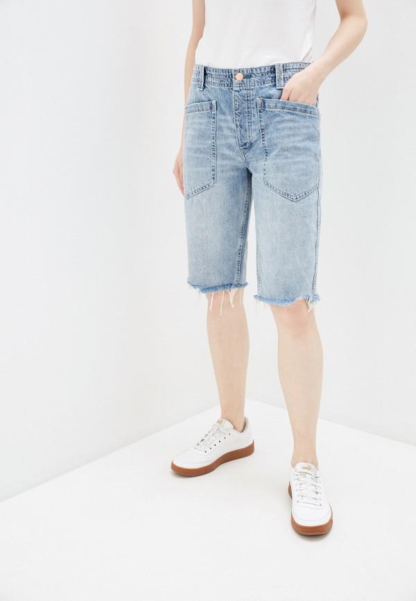 женские джинсовые шорты free people, голубые