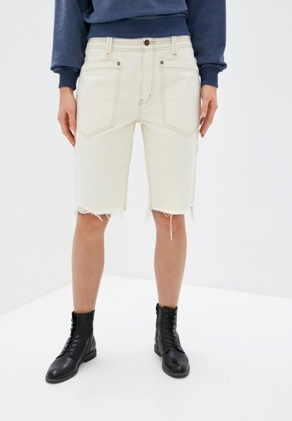 женские джинсовые шорты free people, бежевые