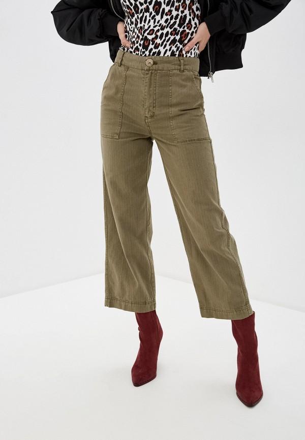 женские повседневные брюки free people, хаки