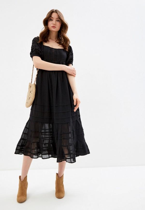 женское повседневные платье free people, черное