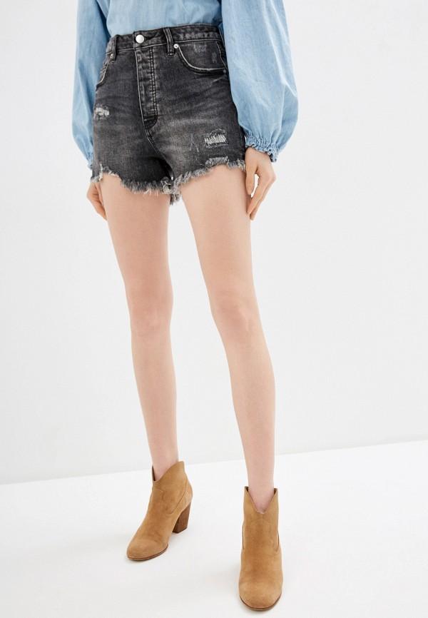 женские джинсовые шорты free people, черные