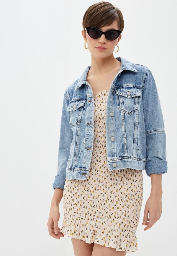 женская джинсовые куртка free people, синяя