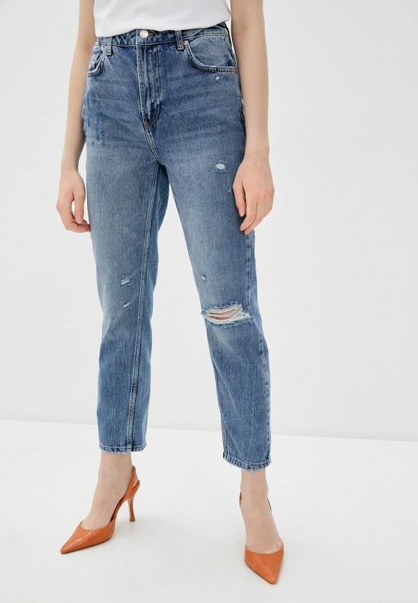 женские джинсы бойфренд free people, синие