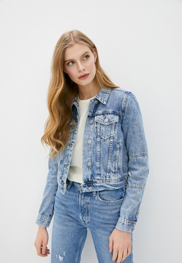 женская джинсовые куртка free people, голубая