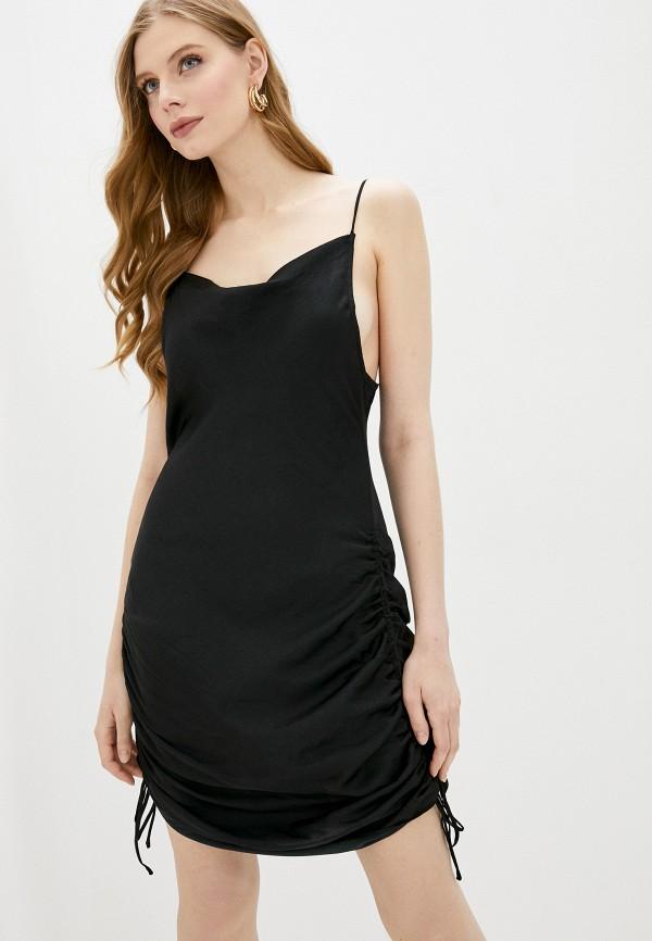 женское вечерние платье free people, черное