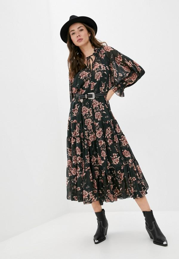 женское повседневные платье free people, зеленое