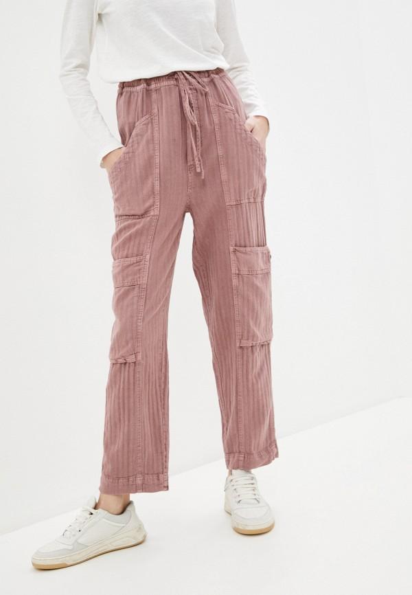 женские повседневные брюки free people, розовые