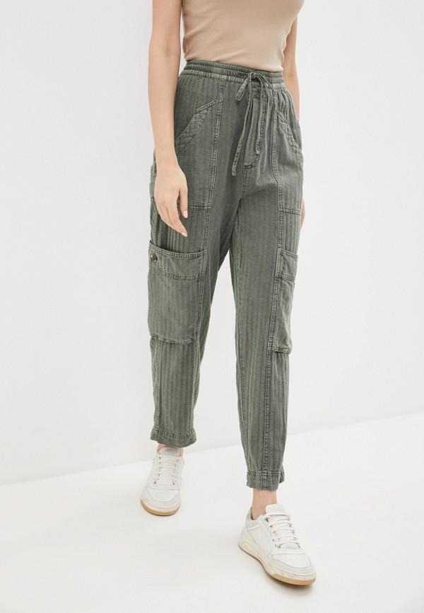 женские брюки free people, хаки