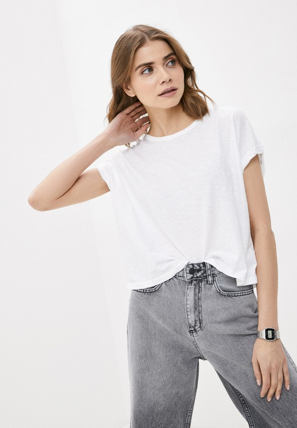 женская футболка free people, белая