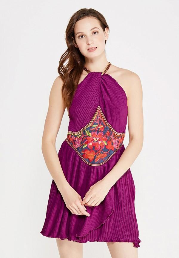 женское повседневные платье free people, фиолетовое