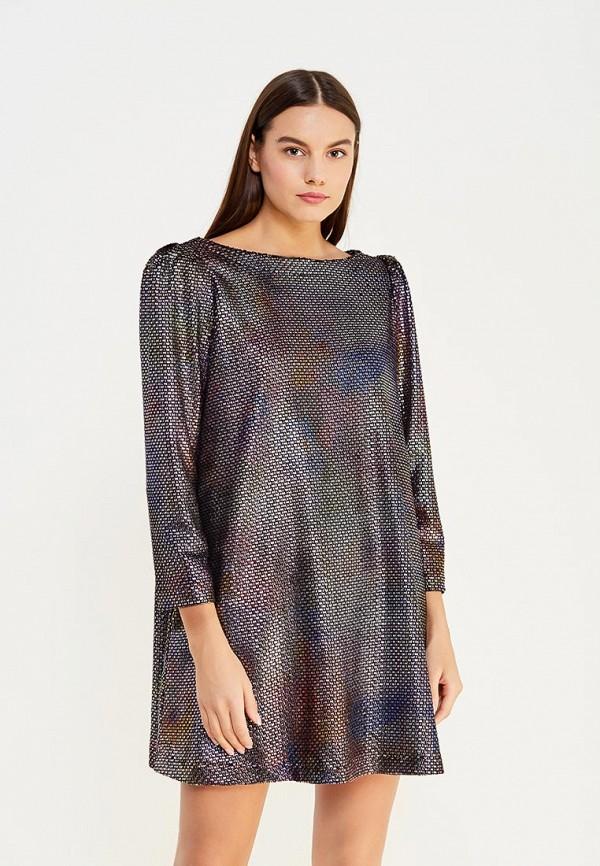 женское вечерние платье free people, серебряное