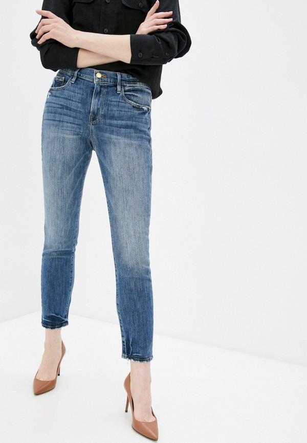 женские джинсы бойфренд frame, синие
