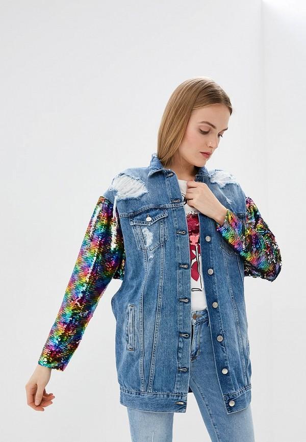 женская джинсовые куртка front street, синяя