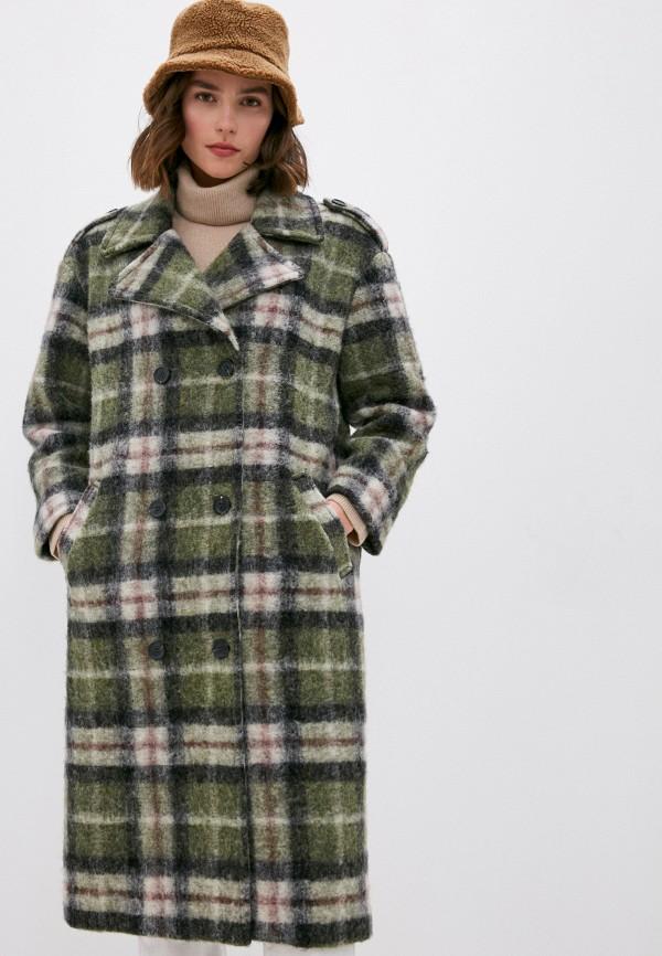 женское пальто front street 8, зеленое