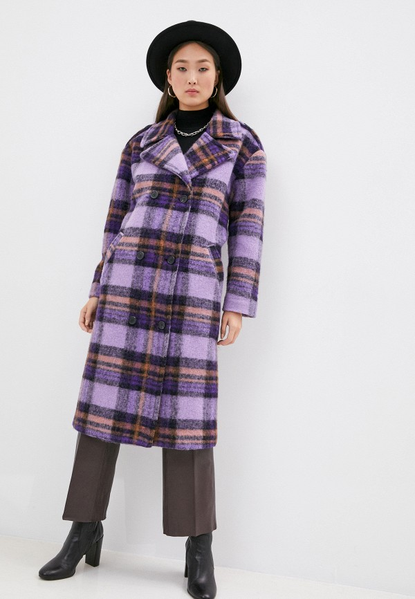 женское пальто front street 8, фиолетовое