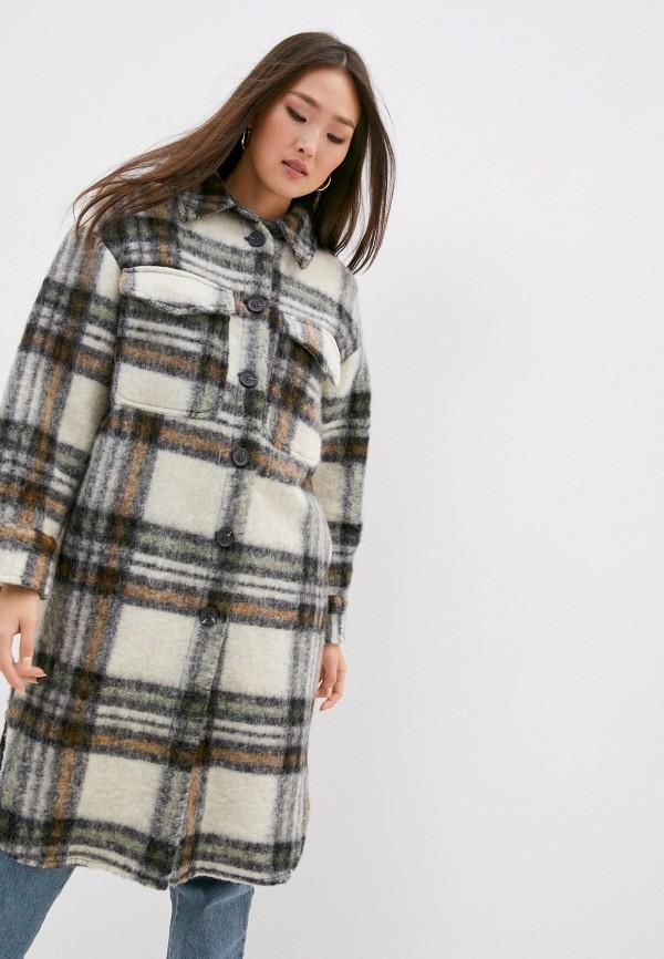 женское пальто front street 8, бежевое