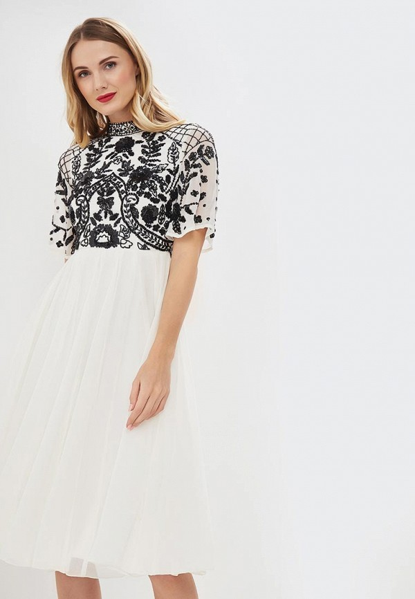 Платье Frock and Frill Frock and Frill FR055EWDLDS3 off the shoulder button frill belted two piece outfit