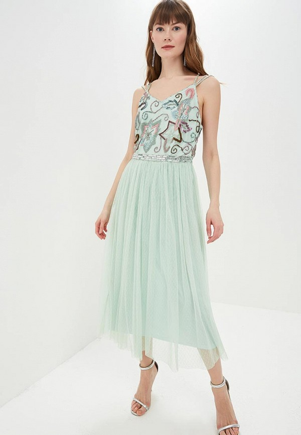 женское вечерние платье frock and frill, зеленое
