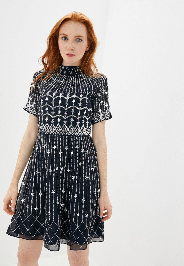 Платье Frock and Frill Frock and Frill FR055EWGLPW4 frill trim self tie tee