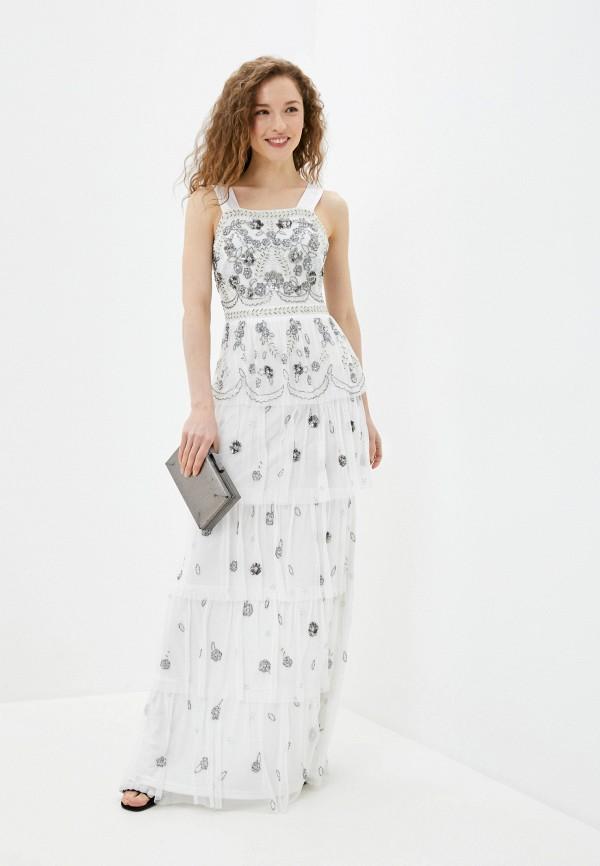 женское вечерние платье frock and frill, белое