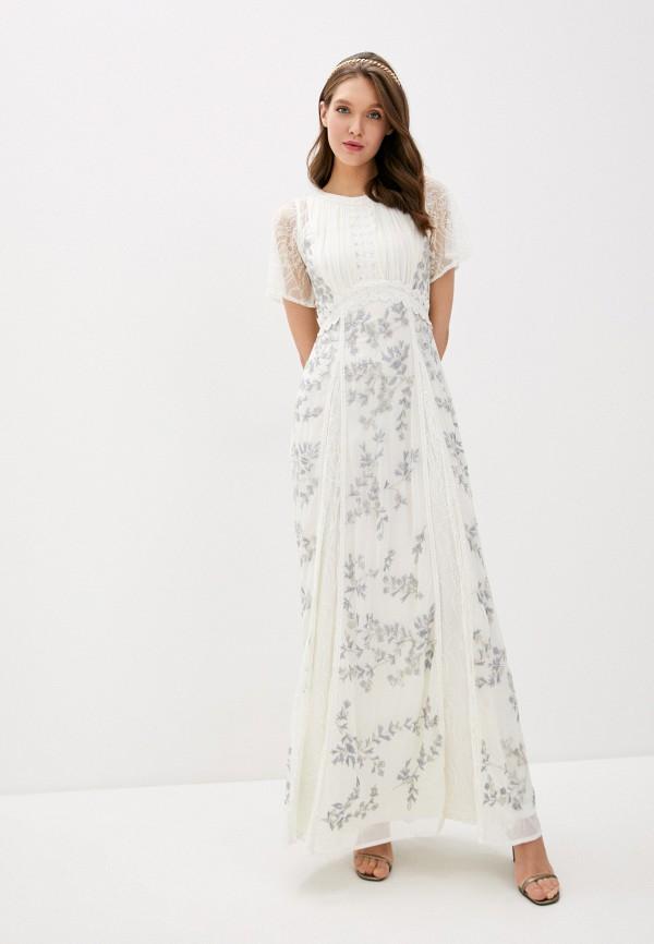 женское платье frock and frill, белое