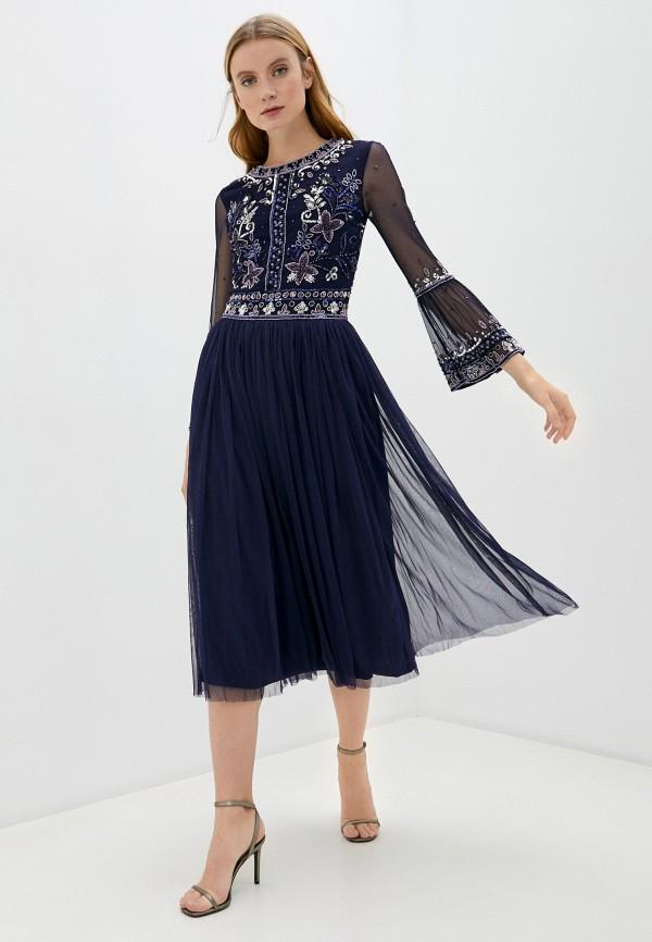 женское вечерние платье frock and frill, синее