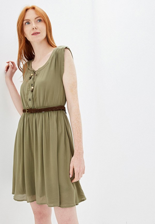 женское повседневные платье fresh made, хаки