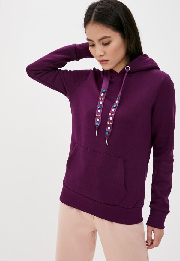 женские худи fresh made, фиолетовые
