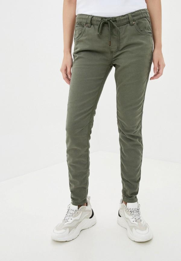 женские повседневные брюки fresh made, хаки