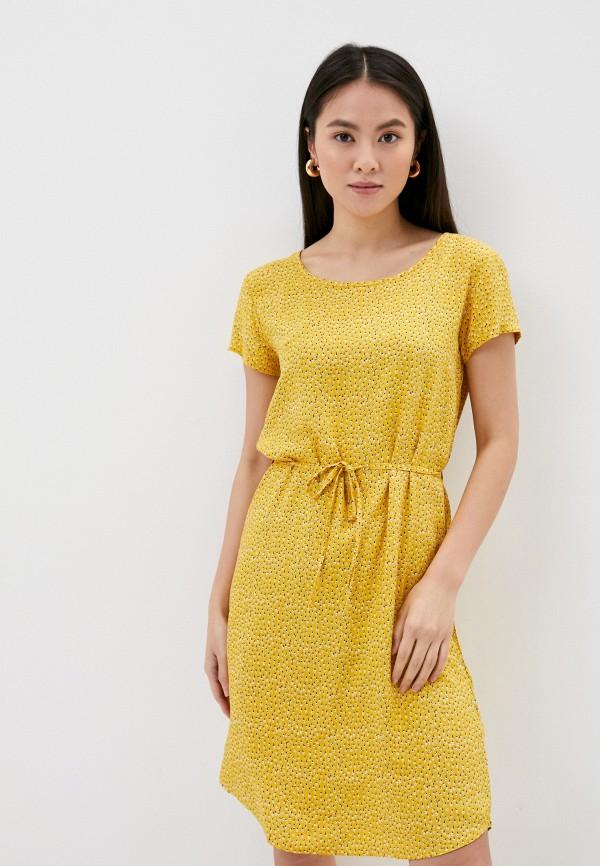 женское повседневные платье fresh made, желтое