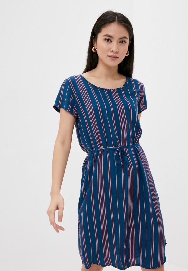 женское повседневные платье fresh made, синее