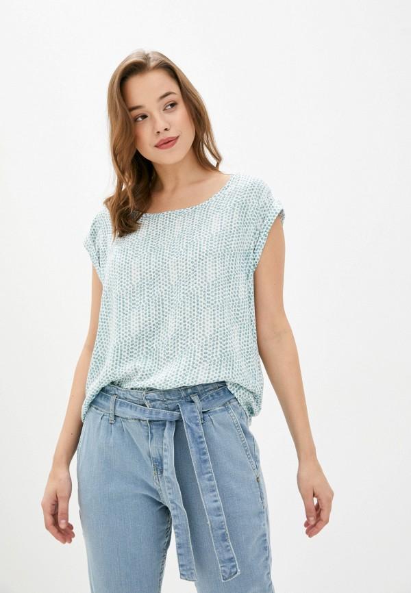 женская блузка fresh made, бирюзовая