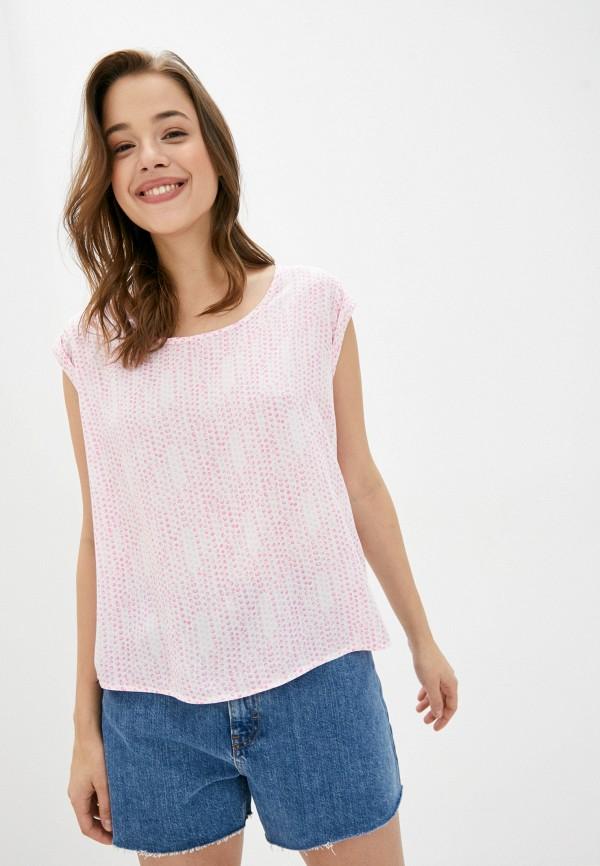женская блузка с длинным рукавом fresh made, розовая