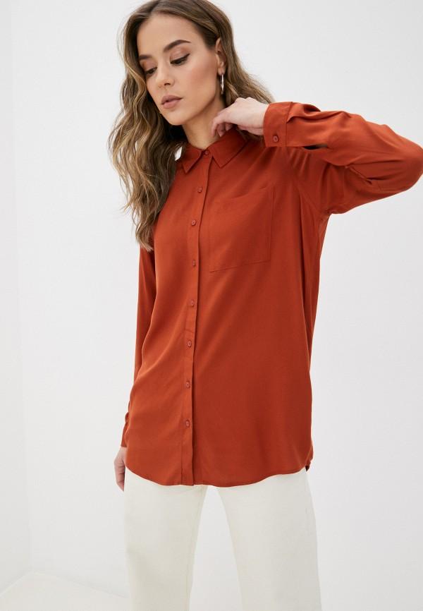 женская блузка fresh made, оранжевая
